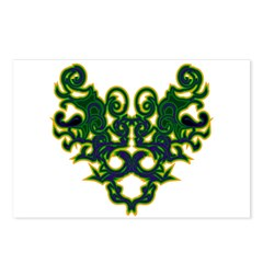 Green Scrolls Postcards (Package of 8)