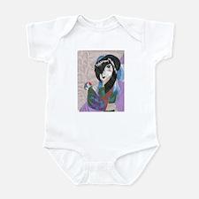 Girl With Fan Infant Bodysuit