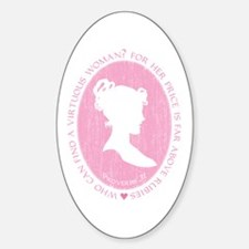 Proverbs 31 Woman Oval Decal