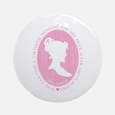 Proverbs 31 Woman Ornament (Round)