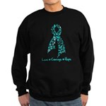 Ovarian Cancer Courage Sweatshirt (dark)