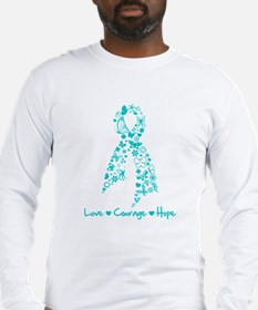 Ovarian Cancer Courage Long Sleeve T-Shirt