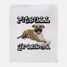 PitBull Grandma Throw Blanket