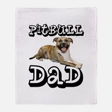 PitBull DAD Throw Blanket