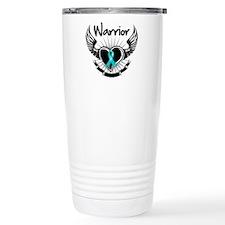 Warrior Ovarian Cancer Travel Mug