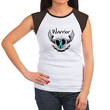 Warrior Ovarian Cancer Women's Cap Sleeve T-Shirt