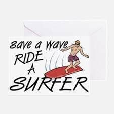 Ride A Surfer Greeting Card