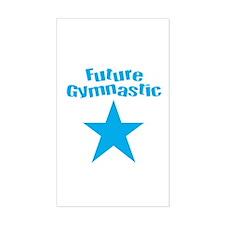 Future Gymnastic Star Blue Rectangle Sticker