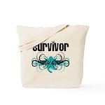 Ovarian Survivor Tribal Tote Bag