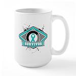 Ovarian Cancer Survivor Large Mug
