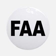 FAA Federal Aviation Administration Ornament (Roun