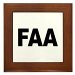FAA Federal Aviation Administration Framed Tile