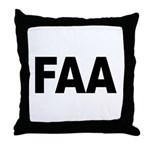FAA Federal Aviation Administration Throw Pillow