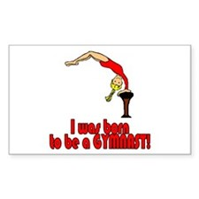 Born to be a Gymnast Abigail Rectangle Sticker