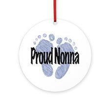Proud Nonna (Boy) Ornament (Round)