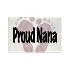Proud Nana (Girl) Rectangle Magnet