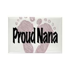 Proud Nana (Girl) Rectangle Magnet
