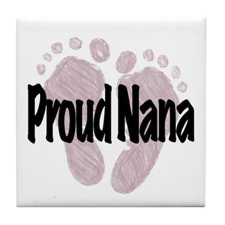 Proud Nana (Girl) Tile Coaster