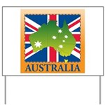 Australia Map and Flag Yard Sign