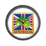 Australia Map and Flag Wall Clock