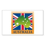 Australia Map and Flag Sticker (Rectangle 50 pk)