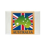 Australia Map and Flag Rectangle Magnet