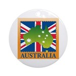 Australia Map and Flag Ornament (Round)