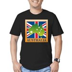 Australia Map and Flag Men's Fitted T-Shirt (dark)