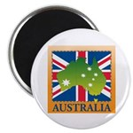 Australia Map and Flag Magnet
