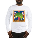 Australia Map and Flag Long Sleeve T-Shirt