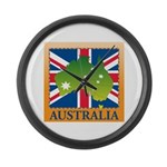 Australia Map and Flag Large Wall Clock