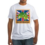 Australia Map and Flag Fitted T-Shirt