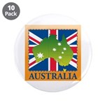 "Australia Map and Flag 3.5"" Button (10 pack)"