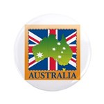 "Australia Map and Flag 3.5"" Button"