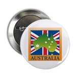 "Australia Map and Flag 2.25"" Button"