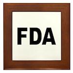 FDA Food and Drug Administration Framed Tile