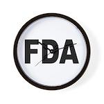FDA Food and Drug Administration Wall Clock
