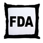 FDA Food and Drug Administration Throw Pillow