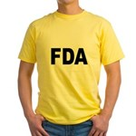 FDA Food and Drug Administration (Front) Yellow T-