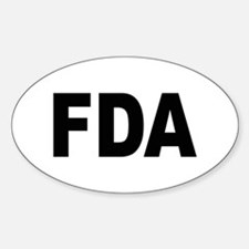 FDA Food and Drug Administration Oval Decal