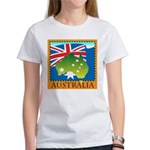 Australia Map with Waving Fla Women's T-Shirt
