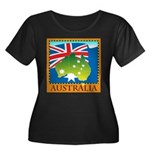 Australia Map with Waving Fla Women's Plus Size Sc