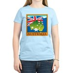 Australia Map with Waving Fla Women's Light T-Shir