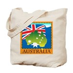 Australia Map with Waving Fla Tote Bag