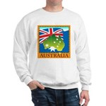 Australia Map with Waving Fla Sweatshirt