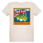 Australia Map with Waving Fla Organic Kids T-Shirt