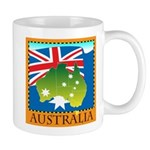 Australia Map with Waving Fla Mug