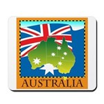 Australia Map with Waving Fla Mousepad