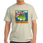 Australia Map with Waving Fla Light T-Shirt