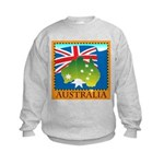 Australia Map with Waving Fla Kids Sweatshirt